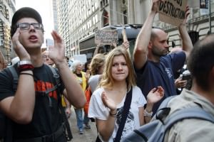 Protestors at Occupy Wall Street