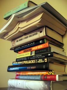 Book Stack by by Sapphireblue (Flickr)