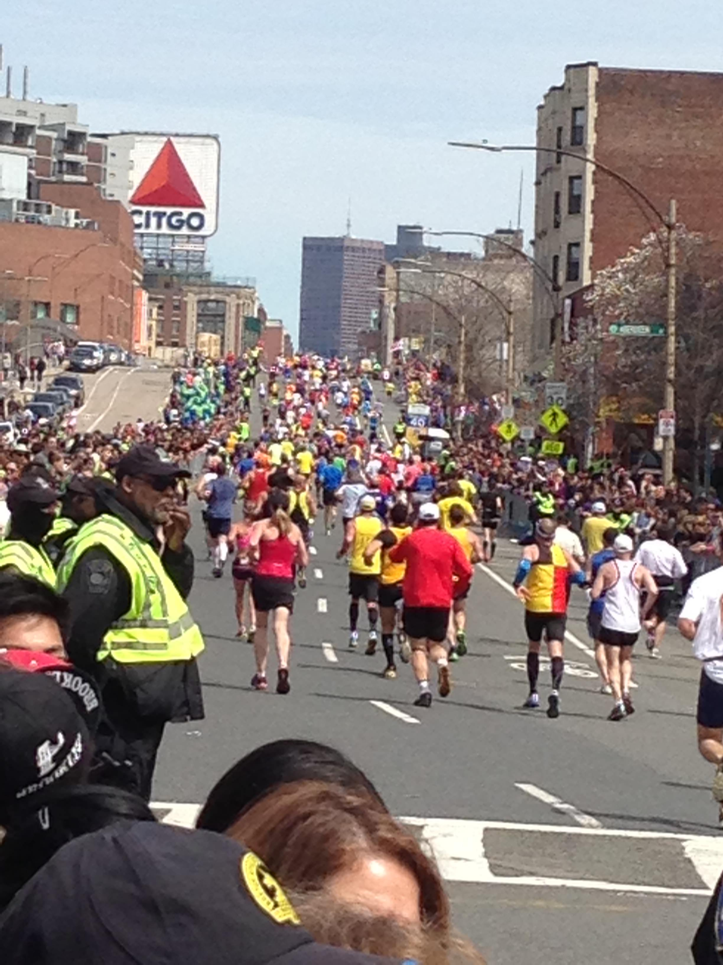 The annual Boston Marathon. On Monday (April 15), bombs exploded at the finish line, killing three and injuring hundreds. Source: Katherine Smith/Arbitrage Magazine