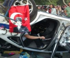 Turkish Protestors Ruin Cars as Demonstrations Continue
